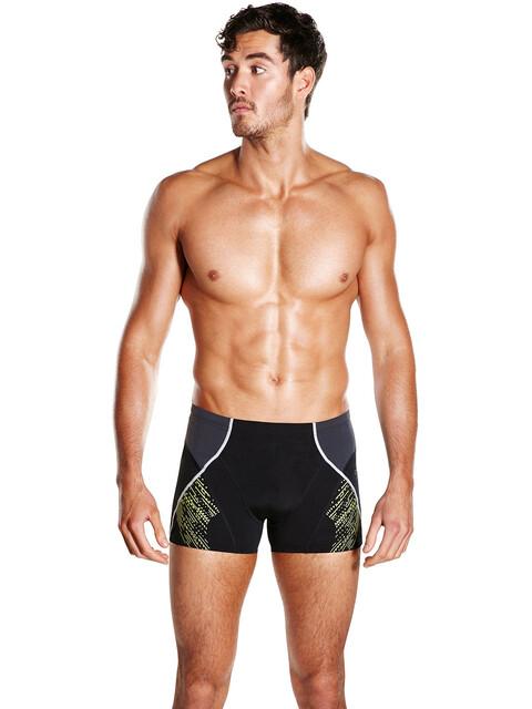 speedo Fit Panel Aquashort Men Black/Oxid Grey/Lime Punch